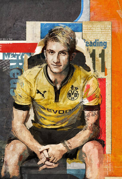 Wall Art - Painting - Marco Reus by Corporate Art Task Force