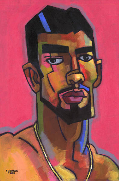 Wall Art - Painting - Marco With Gold Chain by Douglas Simonson