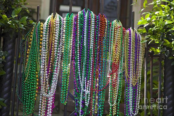 Photograph - Mardi Gras Beads by Jim West