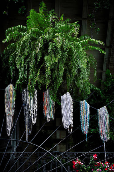 Wall Art - Photograph - Mardi Gras Beads New Orleans by Christine Till