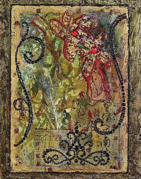 Harlequin Mixed Media - Mardi Gras by Bellesouth Studio