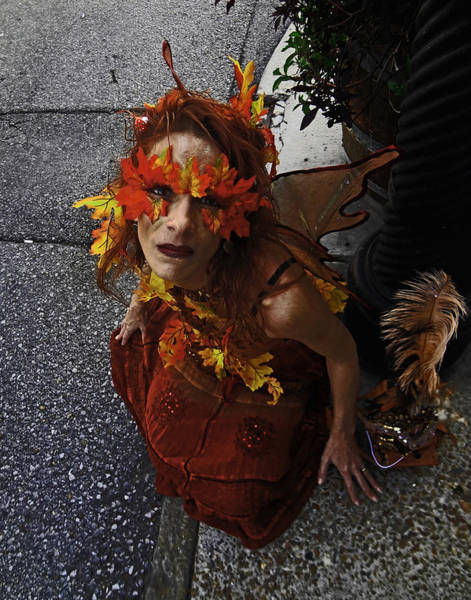 Photograph - Mardi Gras Costume In New Orleans by Louis Maistros
