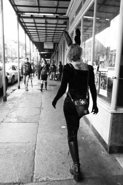 Photograph - Mardi Gras Day Street Scene In New Orleans by Louis Maistros