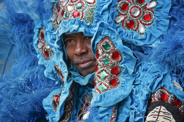 Photograph - Mardi Gras Indian by KG Thienemann