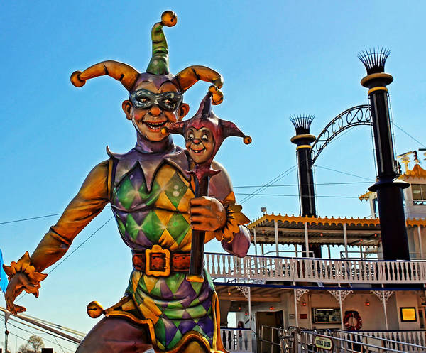 The Joker Photograph - Mardi Gras Jester by Judy Vincent