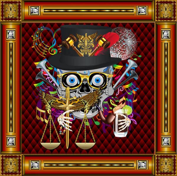 Deja Vu Digital Art - Mardi Gras Judge Vector Sample by Bill Campitelle