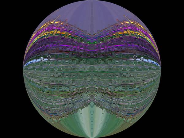 Digital Art - Mardi Gras Mask Orb by Kathy K McClellan