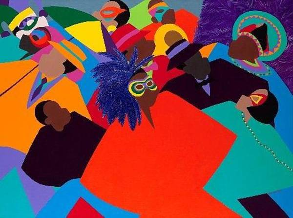 African Dance Painting - Mardi Gras by Synthia SAINT JAMES