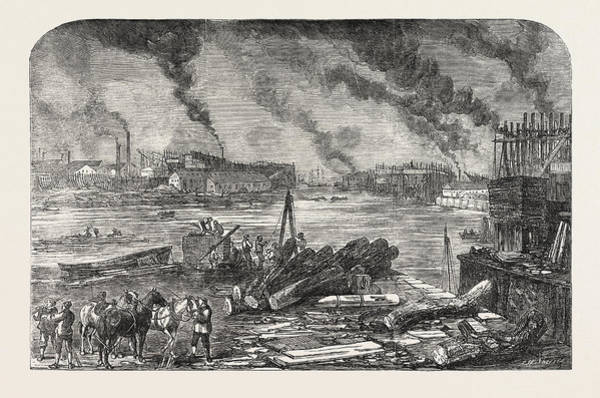 Wall Art - Drawing - Mare And Co.s Iron Ship-building Works Bow-creek Blackwall by English School