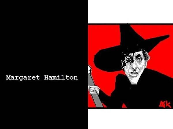 Wicked Witch Of The West Digital Art - Margaret Hamilton Sketch by Ann Kipp
