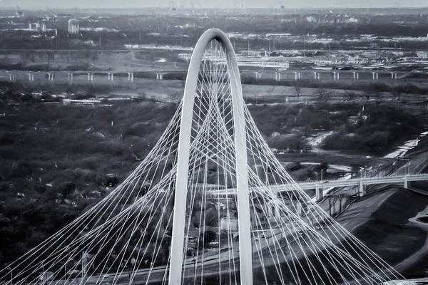 Photograph - Margaret Hunt Hill Bridge Central Arch Bw by Joan Carroll