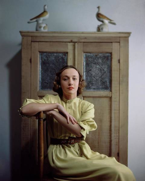 Joy Photograph - Margaret Linnehan In A Yellow Dress Sitting by Frances McLaughlin-Gill
