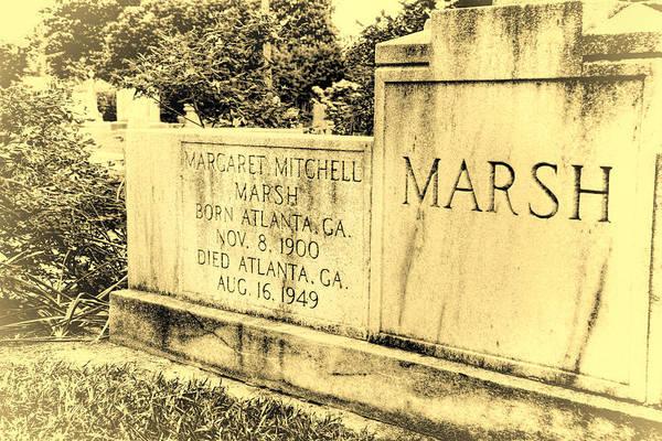 Wall Art - Photograph - Margaret Mitchell Grave by Joan Carroll