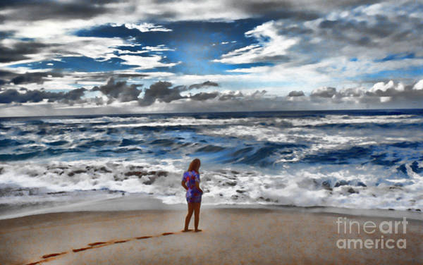 Photograph - Margaret On The Beach by Jeff Breiman