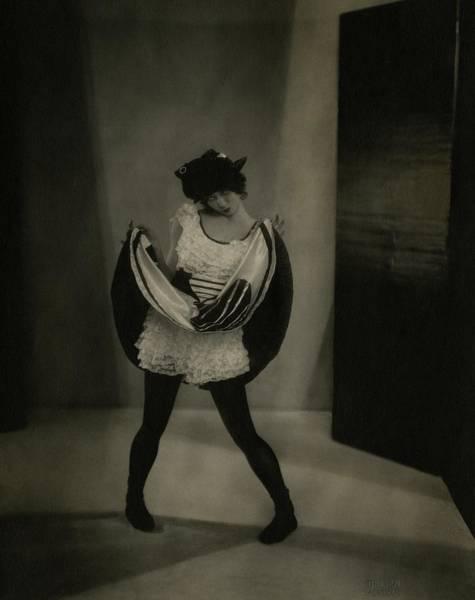 Photograph - Margaret Severn Pulling Up Her Skirt by Edward Steichen