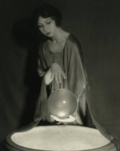 1921 Photograph - Margaret Severn With An Orb by Alexander Milne
