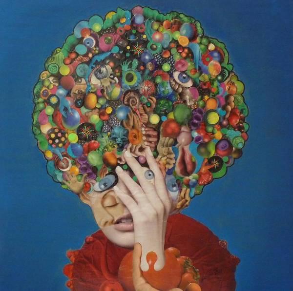 Eyeballs Painting - Margarita Martini by Douglas Fromm