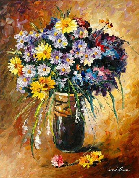 Wall Art - Painting - Margaritas - Palette Knife Oil Painting On Canvas by Leonid Afremov