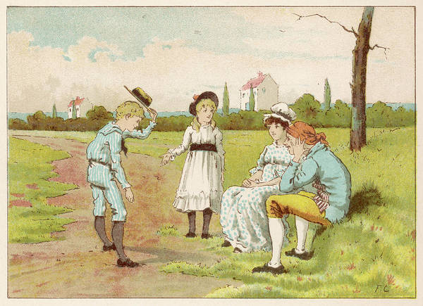 Wall Art - Drawing - Margery And Freddy Introduce Themselves by Mary Evans Picture Library