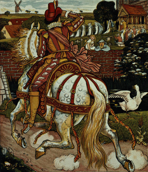 Wall Art - Photograph - Margerys Brother Returns From Far Off Lands From Little Goody Two Shoes by Walter Crane