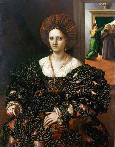 Giulio Painting - Margherita Paleologo by Giulio Romano