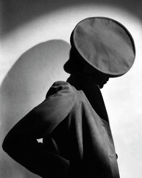 Photograph - Margot Gaylor Wearing A Schiaparelli Beret by Horst P. Horst