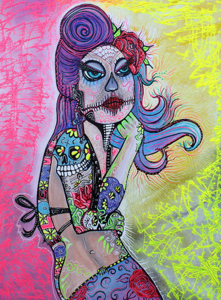 Wall Art - Painting - Maria De Los Muertos by Laura Barbosa