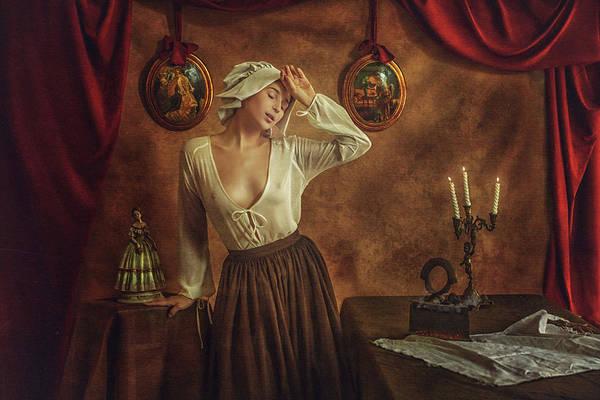 Curtains Photograph - Maria by Evgeny Loza