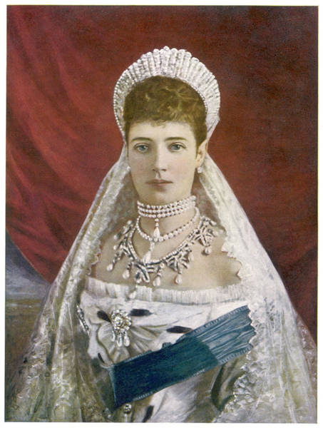 Wall Art - Drawing - Maria Fedorovna  Wife Of Alexander IIi by Mary Evans Picture Library