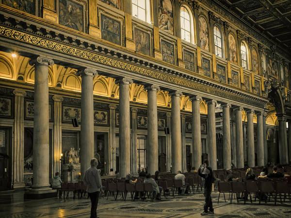 Photograph - Maria Maggiore Interior by Joan Carroll