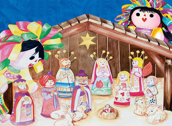 Painting - Maria Sofia And The Nativity by Kandyce Waltensperger