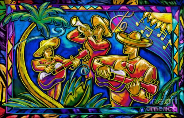 Mariachi Painting - Mariachi Band by Tim Gilliland