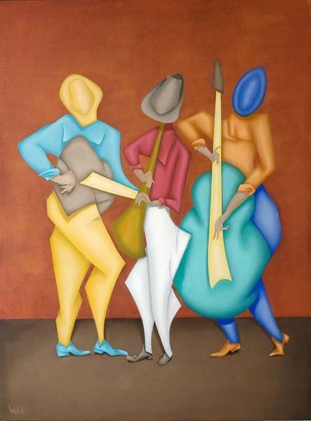 Mariachi Painting - Mariachi by David Walsh