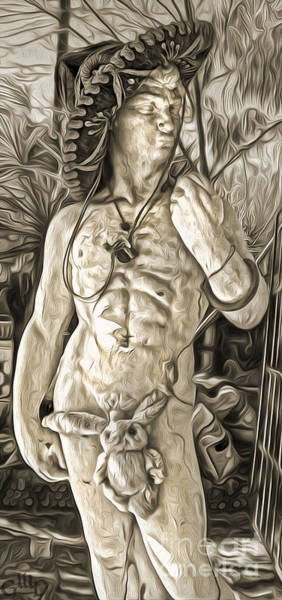 Painting - Mariachi Michelangelo - Sepia Toned by Gregory Dyer