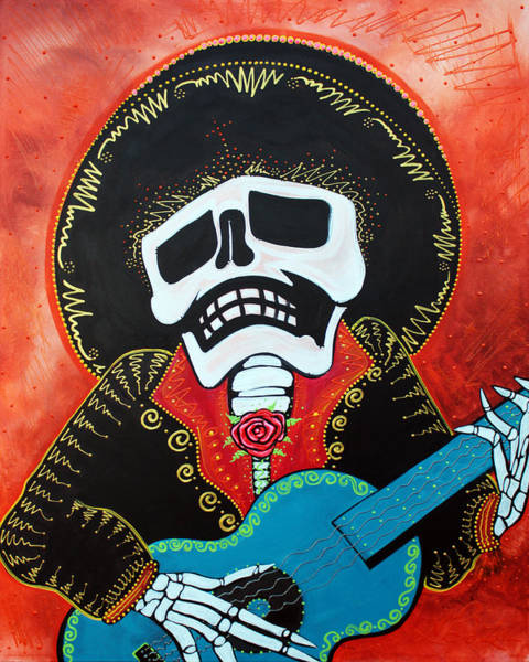 Wall Art - Painting - Mariachi Musician by Laura Barbosa