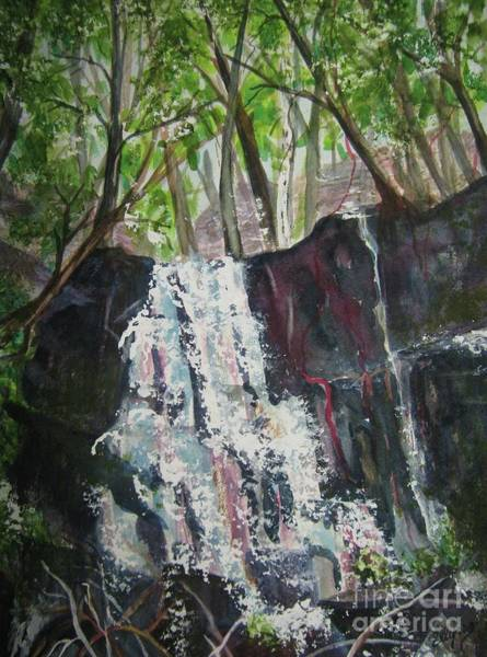 Upstate New York Painting - Mariah's Falls by Ellen Levinson