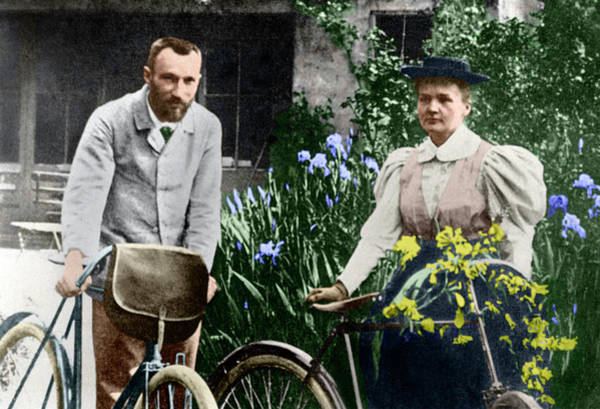 Wall Art - Photograph - Marie And Pierre Curie by Copyright Status Unknown. Coloured By Science Photo Library