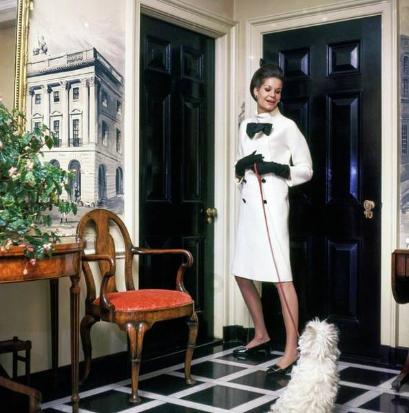 Wall Art - Photograph - Marie Byers Reed At Home by Horst P. Horst
