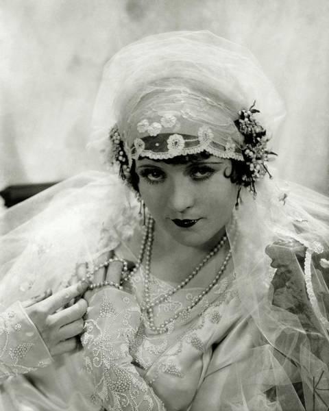 Headdress Photograph - Marie Prevost In Costume by Edward Steichen