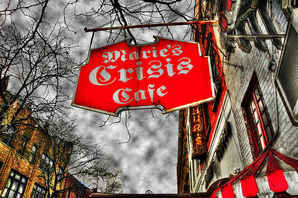 City Cafe Wall Art - Photograph - Marie's Crisis Cafe by Randy Aveille