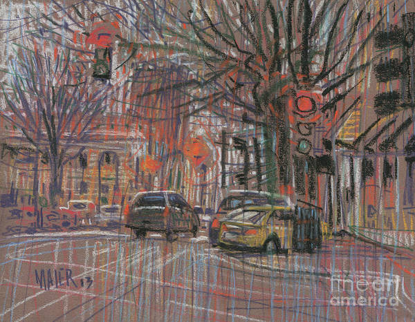 Wall Art - Painting - Marietta Square by Donald Maier