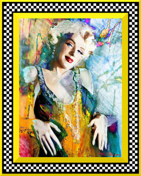 Painting - Marilyn 126 Racing by Theo Danella