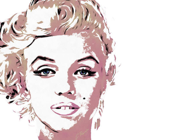 Digital Art - Marilyn by Charlie Roman