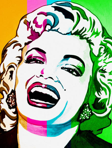 Famous People Digital Art - Marilyn Color Blocked by Colleen Kammerer