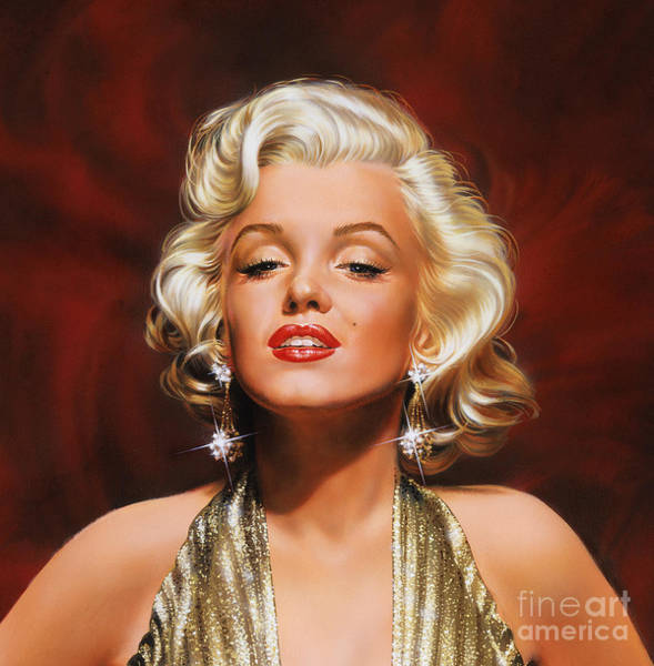 Wall Art - Painting - Marilyn by Dick Bobnick