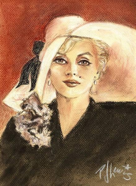 Marilyn Drawing - Marilyn Fashion by PJ Lewis