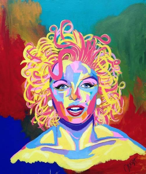 Norma Jeane Mortenson Painting - Marilyn  by Janice Westfall