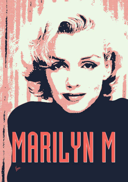 60s Digital Art - Marilyn M by Chungkong Art