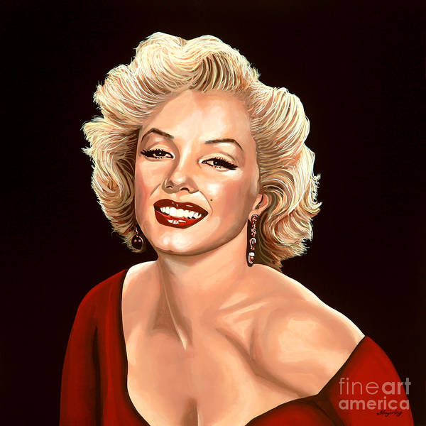 Show Business Wall Art - Painting - Marilyn Monroe 3 by Paul Meijering