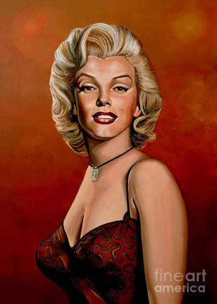 Show Business Wall Art - Painting - Marilyn Monroe 6 by Paul Meijering
